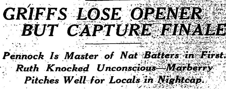 Washington Post headline from July 6th, 1924 newspaper