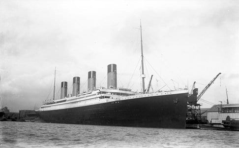 Titanic at Berth No. 44 in Southampton in 1912