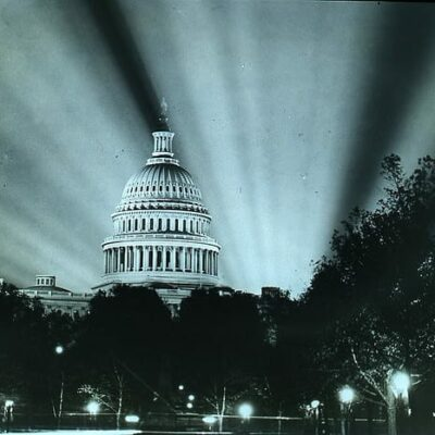 Capitol Building after World War I Armistace Day (DC Public Library Commons)