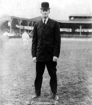 Walter Johnson in street clothes (1907)
