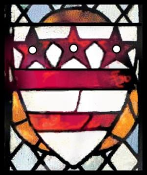 15th century Coat of Arms of Washington Family in Selby Abbey, Selby, UK (Wikipedia)
