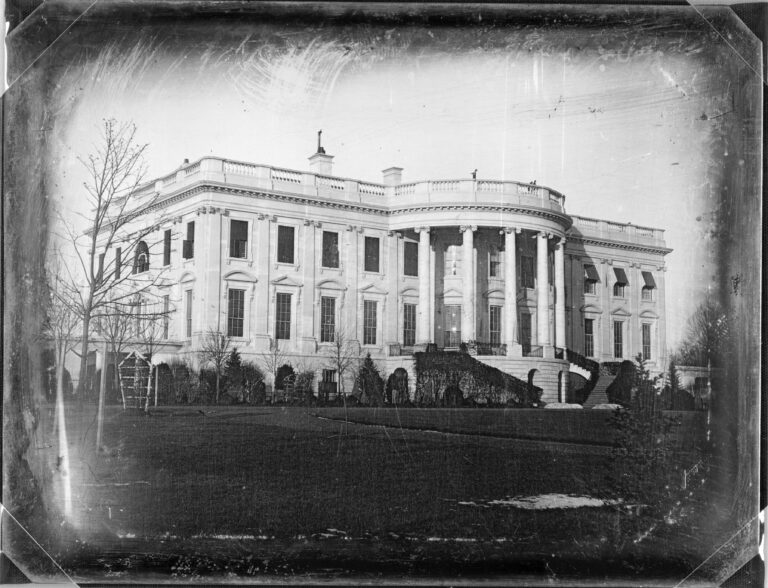White House daguerreotype by John Plumbe, Jr. in 1846 (Library of Congress)