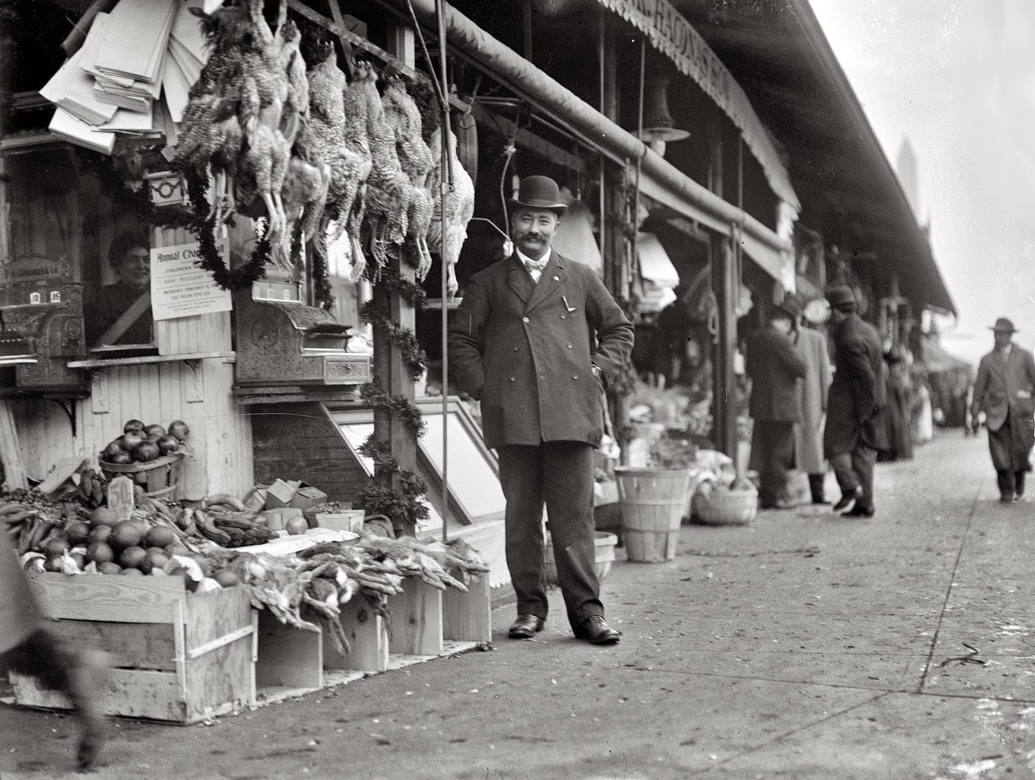 P.K. Chaconas Co. Market circa 1915; George Chaconas pictured in front (Shorpy)