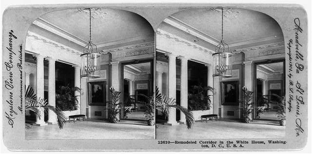 Remodeled corridor in the White House - 1902 (Library of Congress)