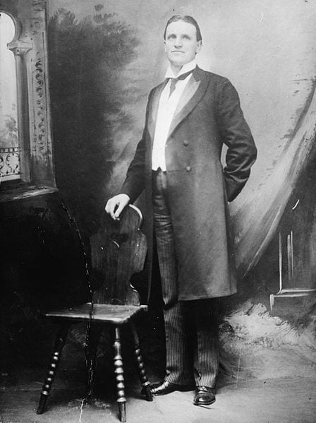 Henry Ashurst in frock coat - undated photo (Library of Congress)