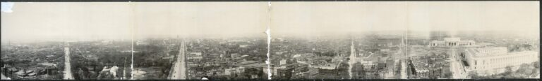 1909 panoramic view of Washington (Library of Congress)
