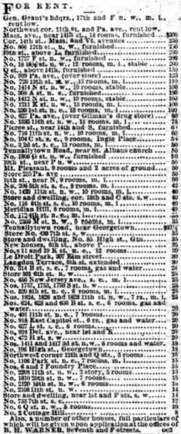 real estate listings - November 7th, 1876