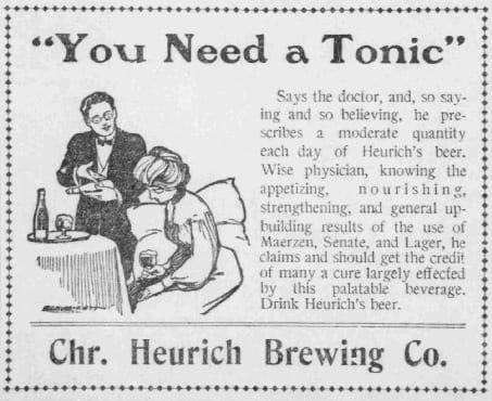 Christian Heurich Brewing Company advertisement in the Washington Times - June 24th, 1904