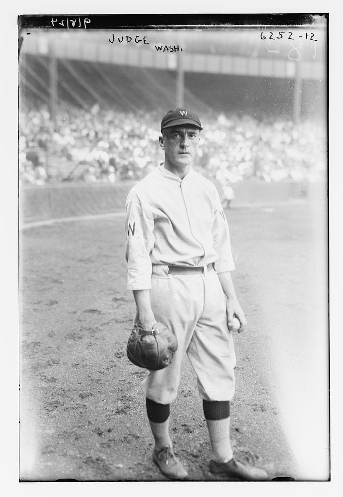 Joe Judge posing on the field in 1924 (Library of Congress)