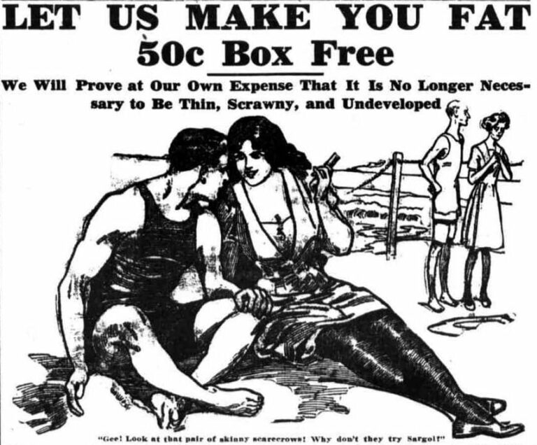 Sargol Company Flesh Builder advertisement in the Washington Times - May 12th, 1912