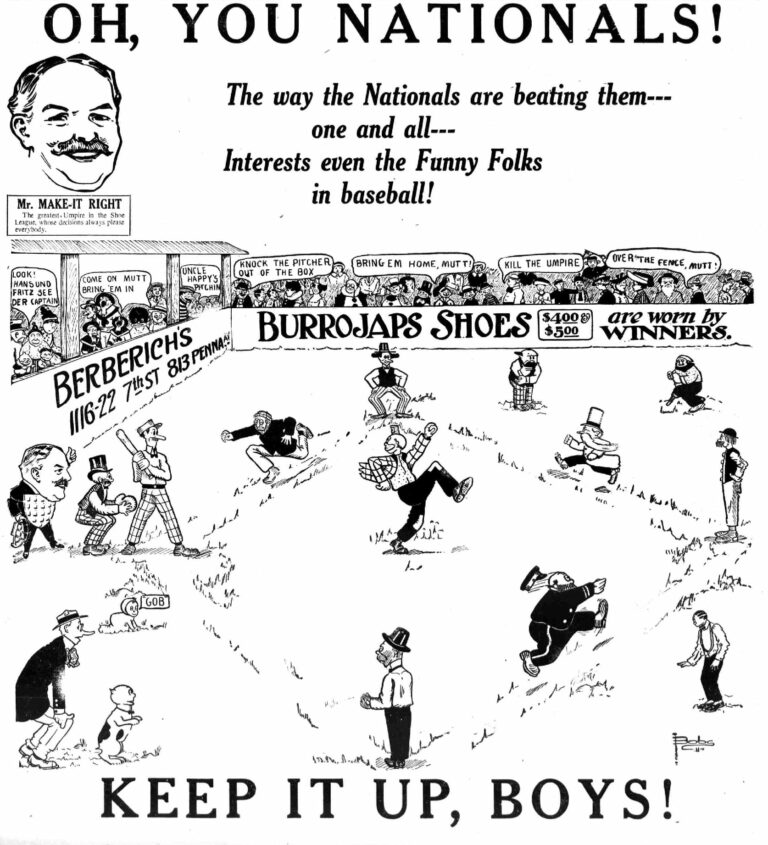 Burrojaps Shoes advertisement in the Washington Times - June 18th, 1912