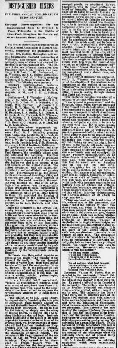 Distinguished Diners - National Republican, Feb 27th, 1886