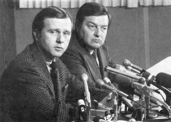 Mayor Pete Wilson and Leon Parma in 1972
