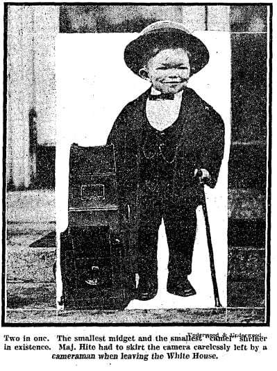 Maj. Mite photo in the Washington Post - December 8th, 1922