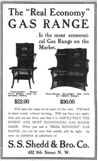 S.S. Shedd & Bro. Co. advertisement in the Washington Times - September 26th, 1906