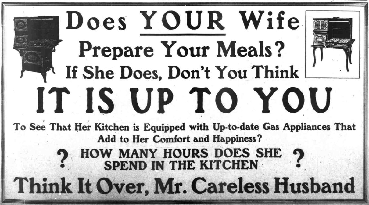 Think It Over, Mr. Careless Husband advertisement in the Washington Times - September 26th, 1911