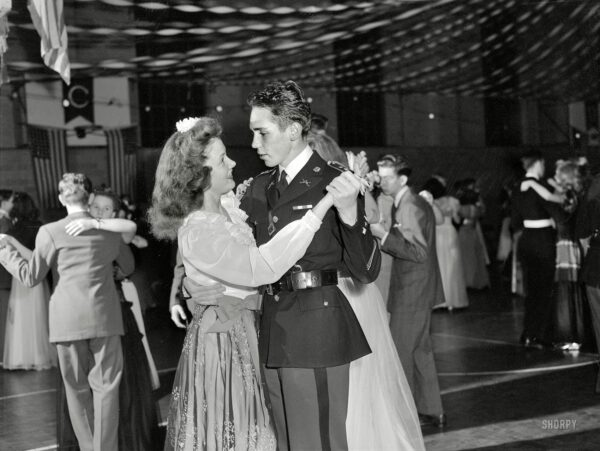 Walter Spangenberg, captain in the Woodrow Wilson High School Cadet Corps at the school's Regimental Ball during WWII - October 1943 (Shorpy)