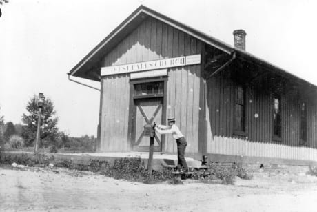West Falls Church station in 1890