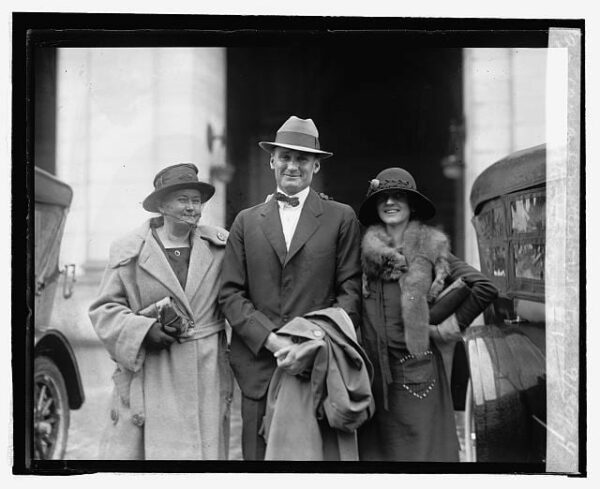 Walter and Hazel Johnson with Walter's mother (Library of Congress)
