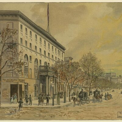 View of Pennsylvania Avenue in 1860