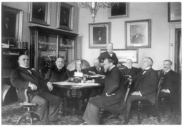 McKinley & cabinet (Library of Congress)