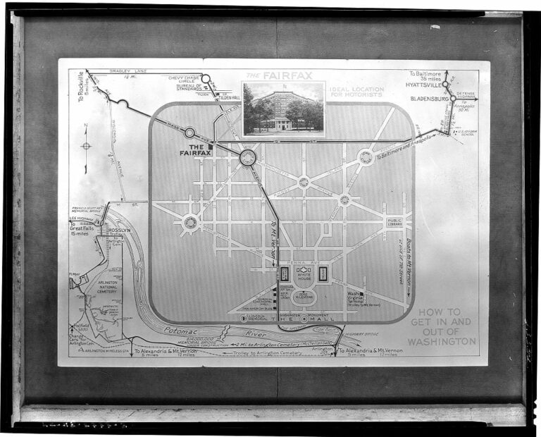 Hotel Fairfax. Simplified map of District of Columbia showing location of Hotel Fairfax (Library of Congress)