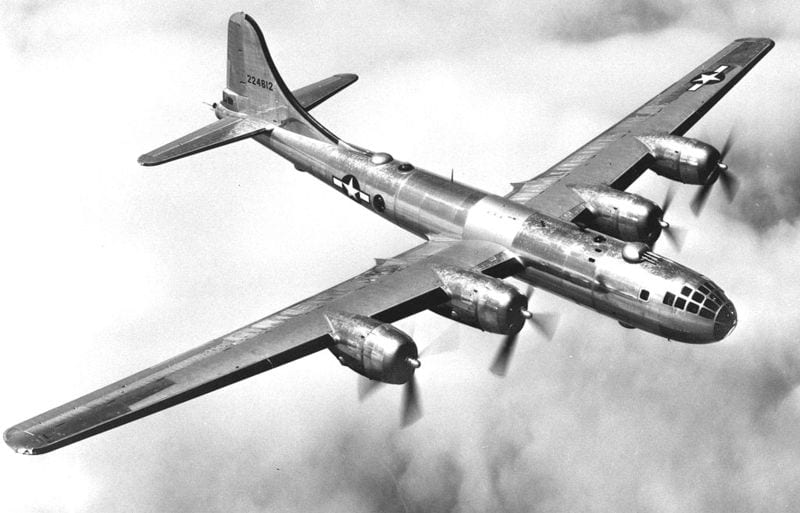 B-29 Superfortress in flight (Wikipedia)