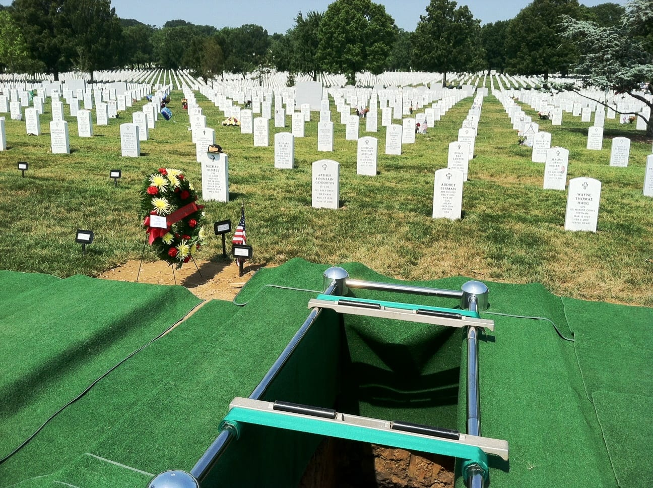 burial at Arlington National Cemetery
