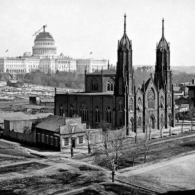Capitol Dome and Trinity Church around 1859 (13 years before Douglass moved to DC)