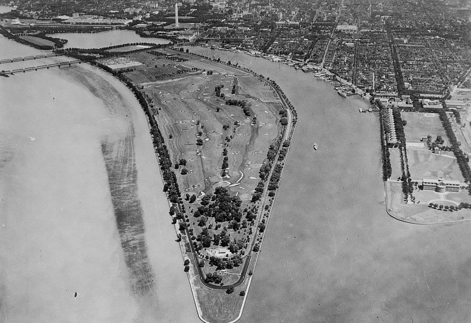View of East Potomac Park From the Air (1935)