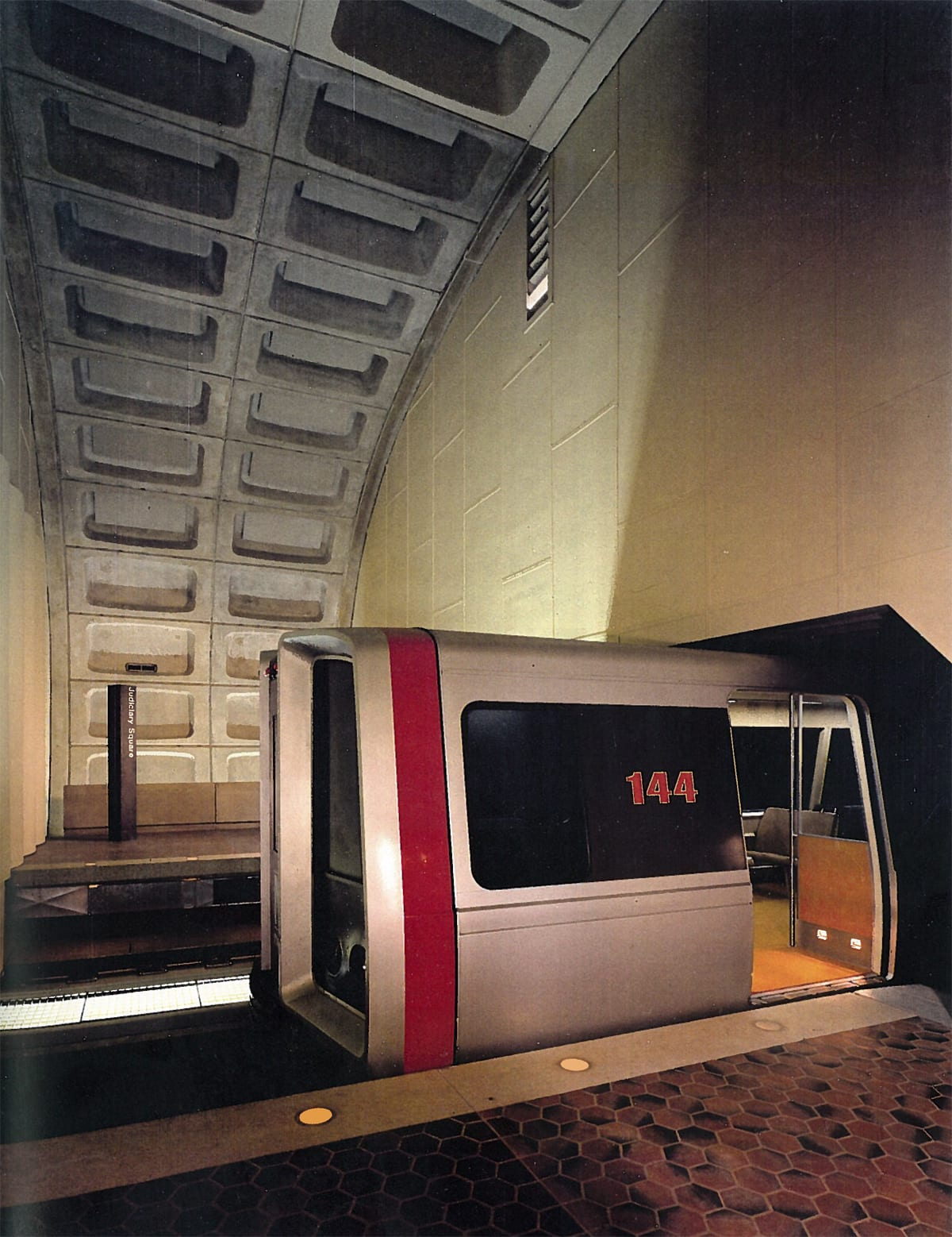 """Full size mockup of partial Metro station 1968"" from Stanley Allan's book describing Metro's early plans."