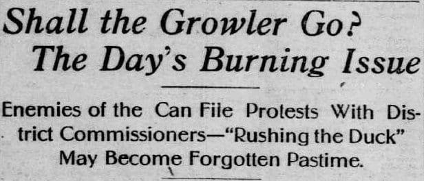 Washington Times headline - October 15th, 1905