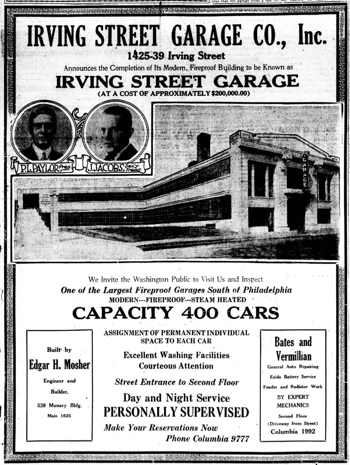 Columbia Heights Had the Largest Fireproof Garage South of Philadelphia