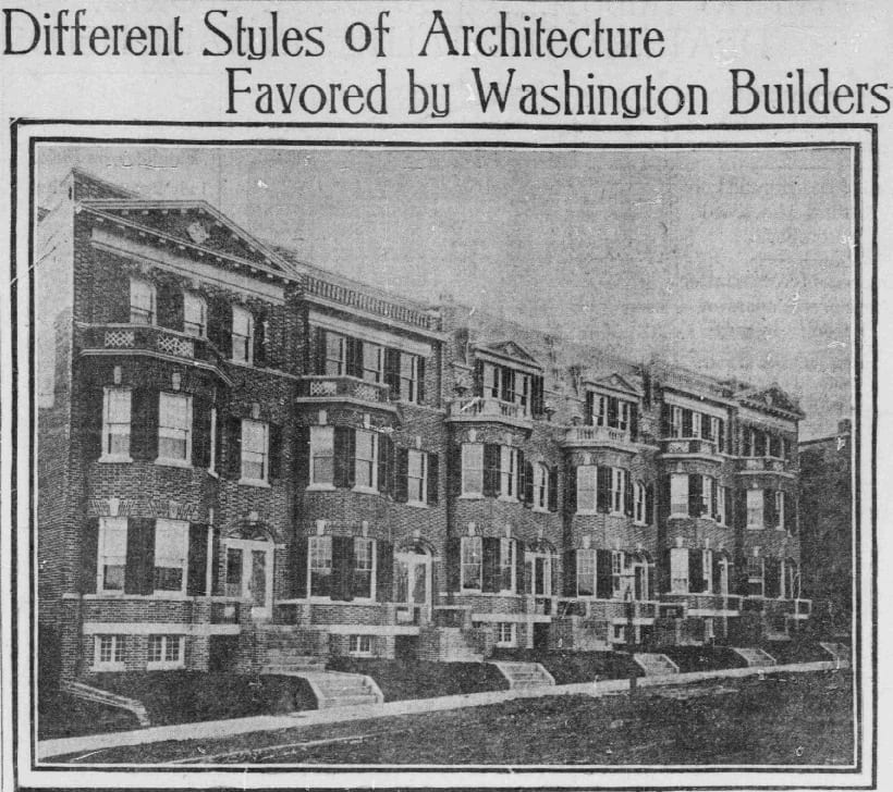 Different Styles of Architecture Favored by Washington Builders - March 3rd, 1907 (Washington Times)