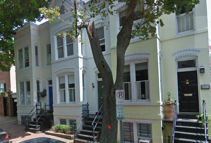 1321 33rd St. NW in Georgetown house on left (Google Street View)