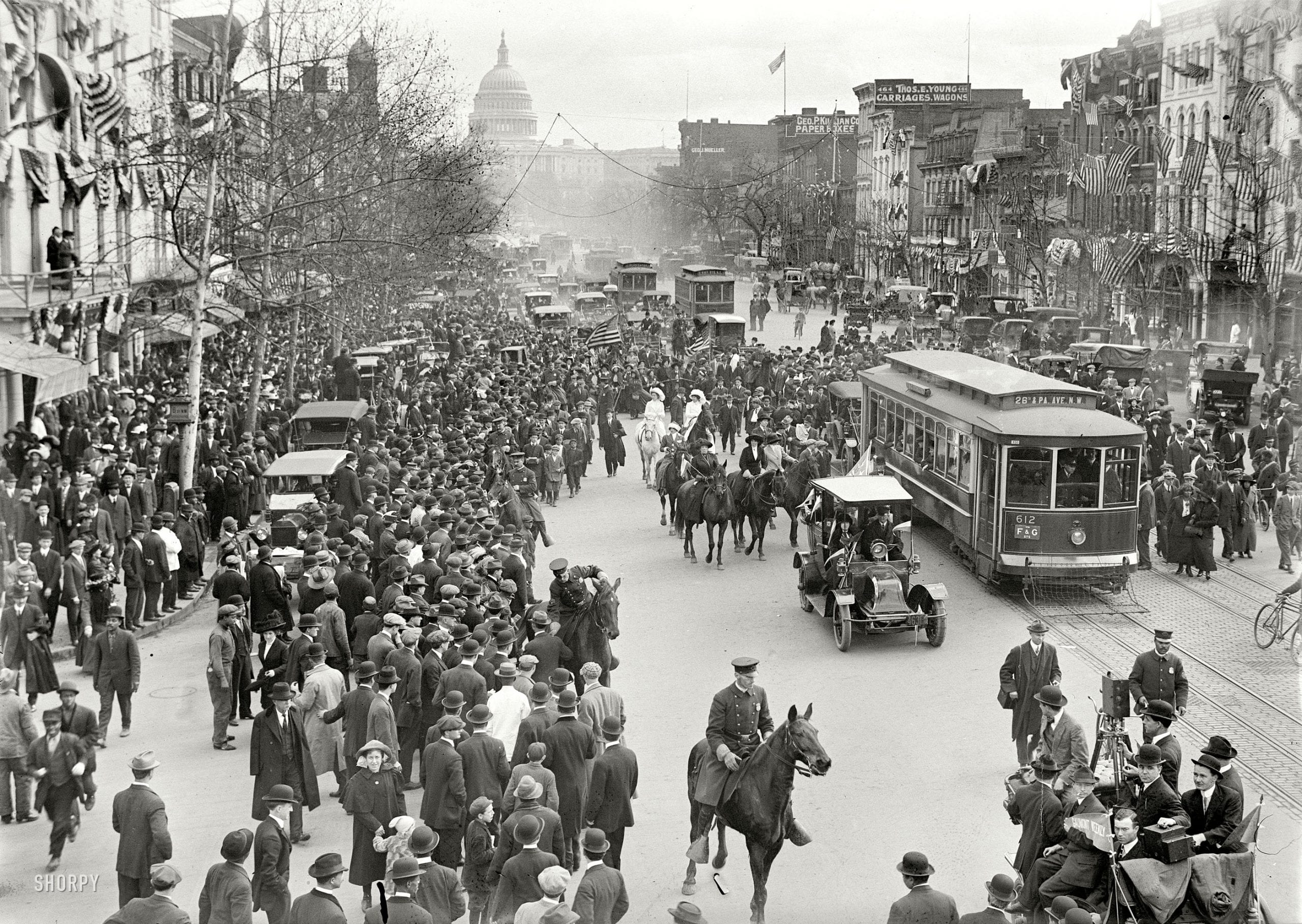 Old Photo Friday: Women's Suffrage Parade in 1914