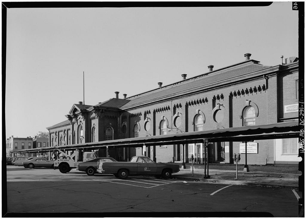 east front of Eastern Market, 7th St. SE (Library of Congress)