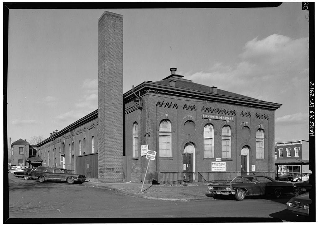 west rear on south side - Eastern Market, 7th St. SE (Library of Congress)