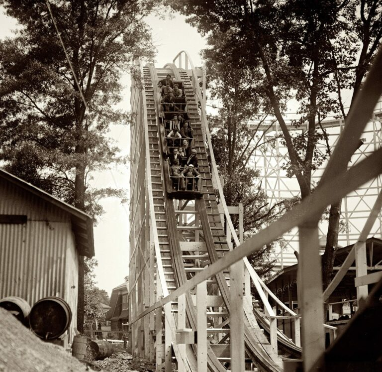 Montgomery County, Maryland. The roller coaster at Glen Echo Park in 1926. (Shorpy)