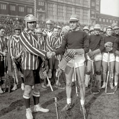 Lacross game at Central High School circa 1930 (Shorpy)
