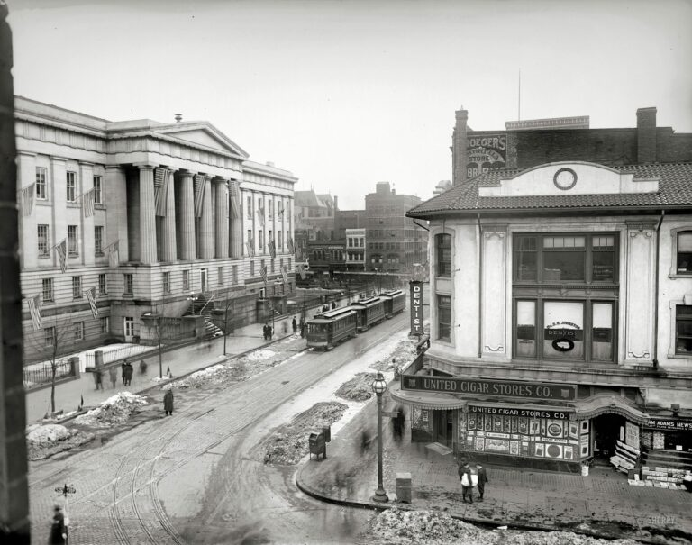 9th and G St. NW in 1919 (Shorpy)