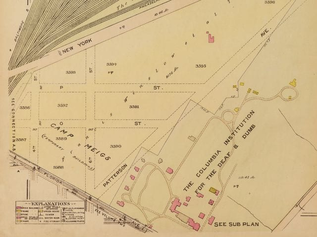 1921 Baist real estate map of 5th and Florida Ave. NE (Library of Congress)