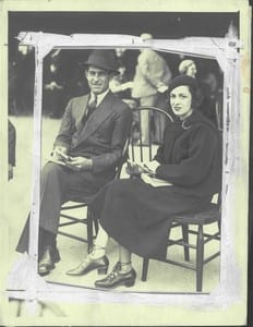 Mr. and Mrs. Bucky Harris in 1932