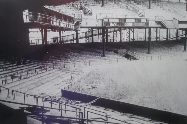 A neglected Griffith Stadium in 1965 (source: Flickr user Photoscream)