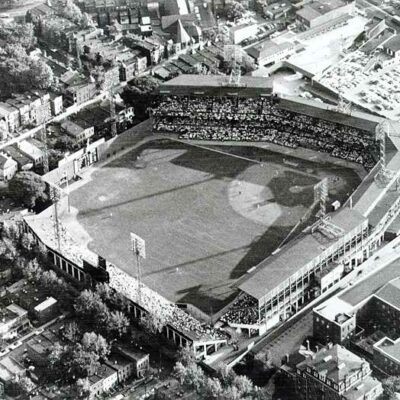 Griffith Stadium from the air in 1960 (Wikipedia)