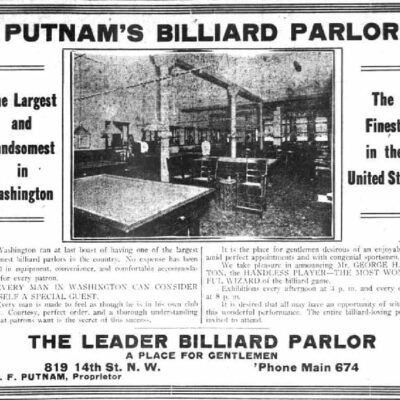 Putnam's Billiard Parlor: The Finest in the United States