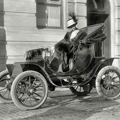 Mrs. Borah and Her Baker Electric Phaeton