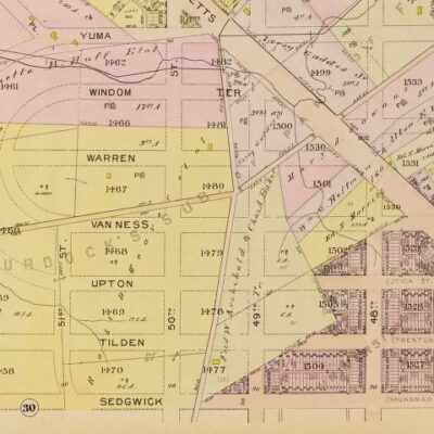 Spring Valley Baist real estate map in 1913