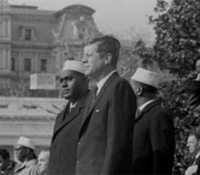 Kennedy and Shermarke in 1962