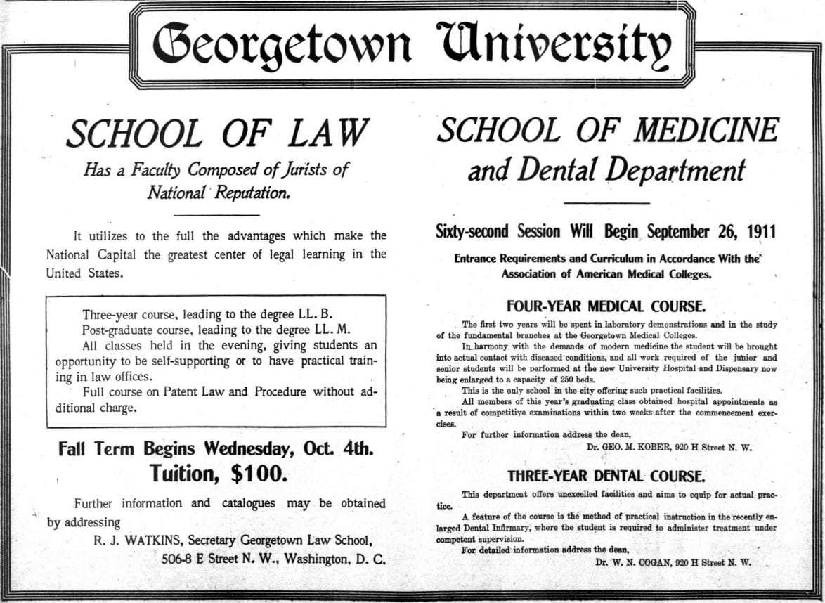 Georgetown University Tuition: $100